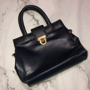 JG Hook vintage navy satchel handbag